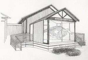 Artist's impression of the Whalery by Kathy Reilly
